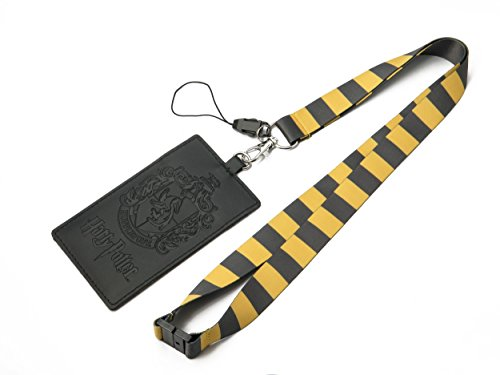HARRY POTTER Hufflepuff School Crest Lanyard with Multiple Card Holder Slots