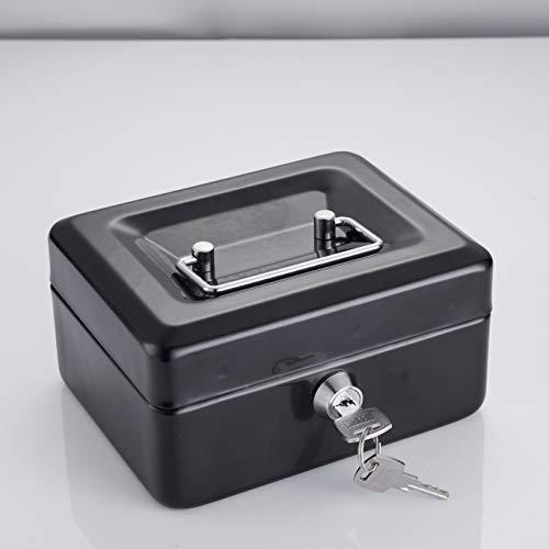Tech Traders Geldkassette aus Metall, mit 2 Schlüsseln, 15,2 cm, Farbe kann variieren