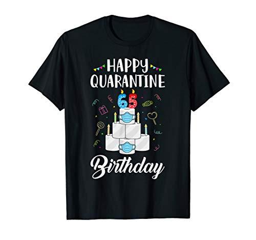 65th Birthday Gift Idea 1955 Happy Quarantine Birthday T-Shirt