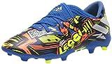 adidas Boy's Nemeziz Messi 19.3 Firm Ground Soccer Shoe, Royal Blue/Silver/Yellow, 5.5 Little Kid