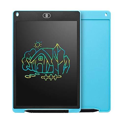 QiKun-Home Tableta de Escritura LCD Inteligente portátil de 12 Pulgadas, Bloc de Notas electrónico, gráficos de Dibujo, Almohadilla de Escritura a Mano, Tablero Ultrafino Azul