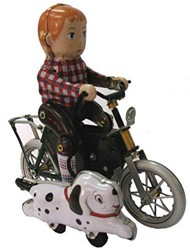 CAPRILO Juguete Decorativo de Hojalata NIÑO con Bicicleta Y Perro  Personajes de Cuerda. Juguetes y Juegos de Colección. Regalos...