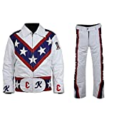 NM-Fashions Men's Biker White Hi-Quality Faux Leather Jacket OR Pants OR Costume