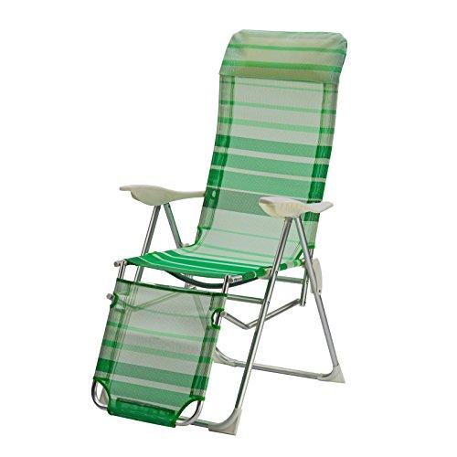 DEMA Alu Relaxsessel Sunnyvale grün gestreift