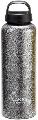 Laken Classic Borraccia di Alluminio Bottiglia d'acqua con Apertura Ampia e Tappo a Vite con Impugnatura, 1 Litro, Granito