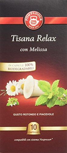 Pompadour Infusione per Bevande Calde, Tisana Relax - 10 filtri - [confezione da 3]