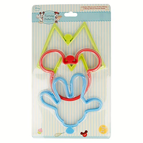 SET 3 MOLDES SILICONA PARA TORTITAS MICKEY MOUSE - DISNEY - BAKERY