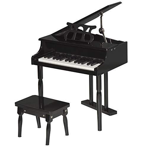 HOMCOM Piano de Cola Electrónico 30 Teclas con Atril Tabure