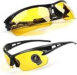 Mejorar sus gafas de sol de juego HD Vision amarillo lente clara...