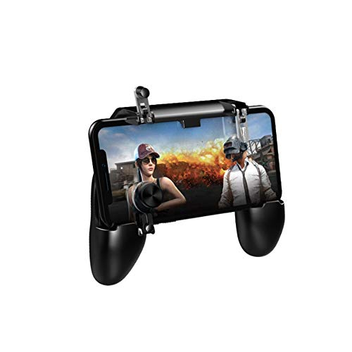 Mobile Game Controller for PUBG with Cooling Fan ICETEK Newest 4-in-1 Handy Gamepad Gaming Grip Shoot and Aim Trigger Sensitive Shoot Aim Joysticks for Smartphone