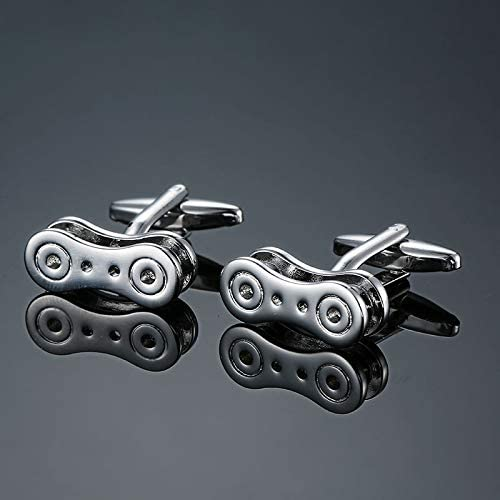 SuoSuo LZWJD Factory Direct Sales Motorcycles Bicycles Racing Cars Cufflinks Modeling Men's French Shirts Cuff Links (Metal Color : 3)