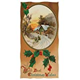Toallas De Mano Navideñas Toalla De Baño De 40X70 Cm, Retro Navidad Holly...