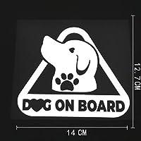 XHFF 12.7cmのX 14cmの犬オンボードデカール車のトラックのバンパー車のステッカービニール装飾 (Color Name : Silver)