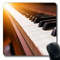 マウスパッド滑り止めピアノ寄宿舎音楽の下に配置されたサンアートカルチャーエンターテインメントは長方形の形状長方形のゲームマウスパッド滑り止め滑り止めラバーマット