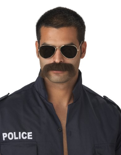 California Costumes The Man Police Moustache