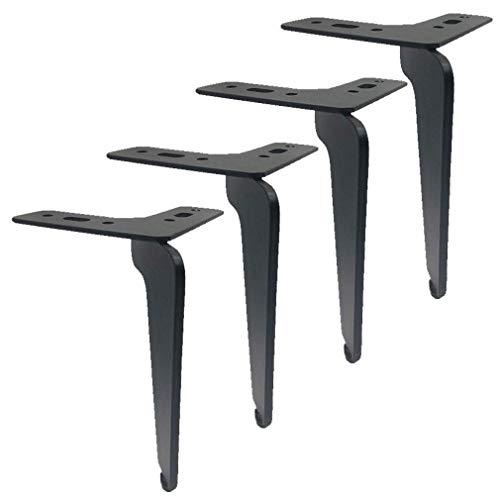 Wyxy Patas para Muebles, Patas de Hierro para sofá de Bricolaje, Patas de Repuesto para gabinete de TV, Patas de Apoyo para Muebles de Metal, Patas de Cocina, Patas para gabinetes, Patas de escri