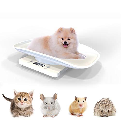Chennie Digitale Waage für Welpen mit komfortabler geschwungener Plattform, LCD-Display, Kapazität 10 kg