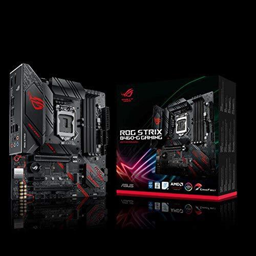 ASUS ROG STRIX B460-G GAMING Mainboard Sockel 1200 (Mikro ATX, AI Networking, Intel 1Gbit/s-Ethernet, zwei M.2, USB 3.2 Gen 2x2, SATA, AURA-Sync)