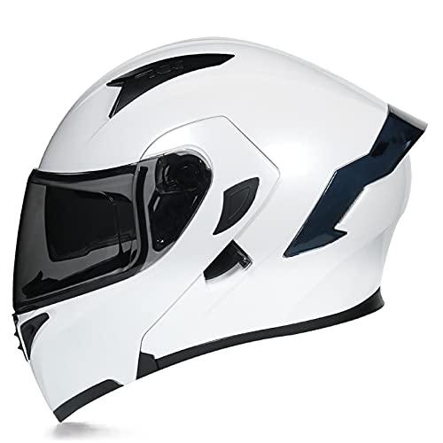 Casco De Moto, Casco De Doble Parasol Abatible, Integral, Moto De Cross, Cómodo, Transpirable Y Ajustable L 3