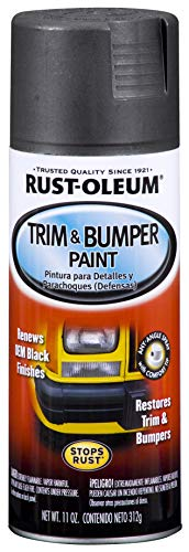 Rust-Oleum Black BlackRust-Oleum Automotive 251574 11-Ounce Trim and Bumper Spray, Matte