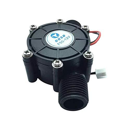 12V Generador Turbina Agua Microhidráulica Imán Neodimio Presión Agua Ultrabaja Iniciar Agua Hidroeléctrica Energía Bricolaje (Black)