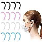 Heiqlay protector de orejas para mascarillas Puños traseros de oreja Orejeras para máscaras Máscara de silicona para orejeras Antideslizante, Reciclable, para usar mascarilla facial (4 pares)