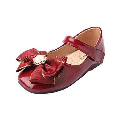 Zapatos de Vestir para niñas Zapatos Planos de Charol con Punta Redonda...