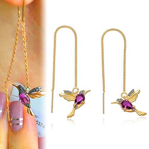 Viesky Pendientes elegantes de moda con diseño de colibrí para mujer personalizados