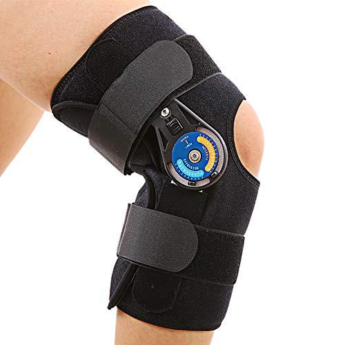 Osteoarthritis Kniebandage, Scharniere, offene Kniestütze, für ACL/PCL/Meniskus/Bänder/Sportverletzungen, orthopädische Knieorthese mit verstellbaren Gelenken für Männer und Frauen