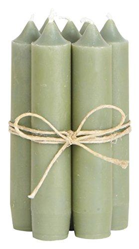 IB Laursen - Stabkerzen - klein - olivegrün - 8er Set