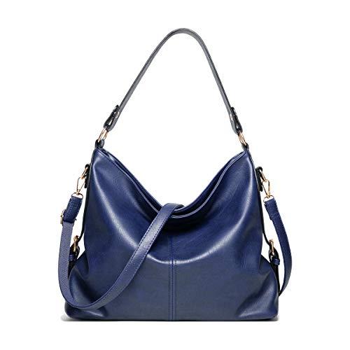 SDINAZ Damen handtaschen Mode Schultertaschen Hohe Kapazität Shopper Umhängetaschen Blau