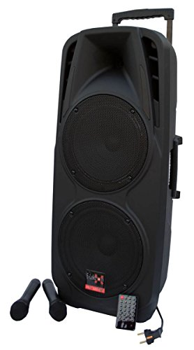 E-Lektron EL225-UHF 600W PA Soundsystem USB/SD Bluetooth Soundanlage mit Akku und Funkmikrofon