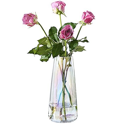 Vaso di fiori Vaso di narciso Vaso di vetro piccolo Vasi per fiori Vasi di vetro tagliati grandi per fiori Vasi di fiori di cristallo Vaso di acrilico Mini vaso Cilindro di vetro 18 cm