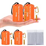 Emergency Sleeping Bags 2 Pack, Tearproof Thermal Emergency Blankets for Survival, PDEEY Bivy Sack Space Blankets, Ultralight Survival Gear for Hiking, Camping, Outdoor with 2(Blankets & Whistle)