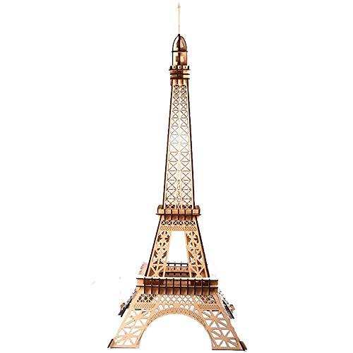 Taoke DIY Gebäude Model Kit 3D-Puzzle-Architektur Gebäudemodell Zeichen Kit Geschenk for Kinder und Erwachsene 41x41x106cm Schnitzkunst Spiele (Farbe: Bild Farbe, Größe: 41x41x106cm) 8bayfa