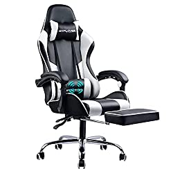 Gtplayer Gaming Chair with Footrest Ergonomic Massage Office Chair