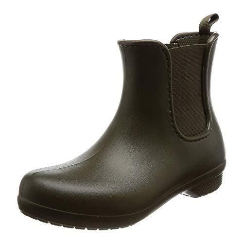 Crocs Freesail Chelsea Boot Women, Stivali di Gomma Donna, Verde (Dark Camo Green), 36/37 EU