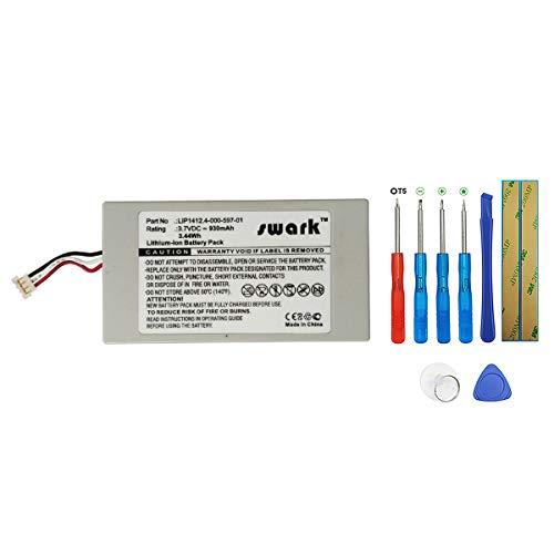 Swark Akku LIP1412 Kompatibel mit Sony Playstation Portable PSP Go PSP-N100, PSP-N1000, PSP-N1001, PSP-N1002, PSP-N1003, NA1006 with tools