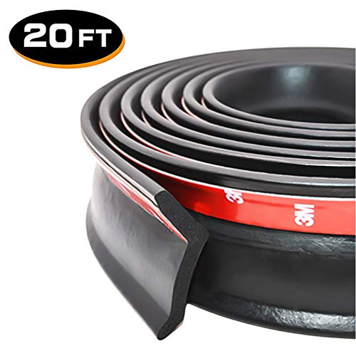 Best Price! 20Ft Universal Garage Door Bottom Threshold Seal Strip, DIY Weather Stripping Replacemen...