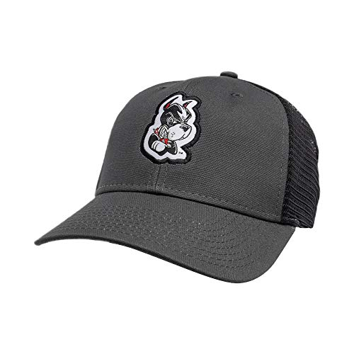 NCAA Boston University Terriers Industrial Mesh Canvas Cap, Adjustable, Grey/Black/Grey