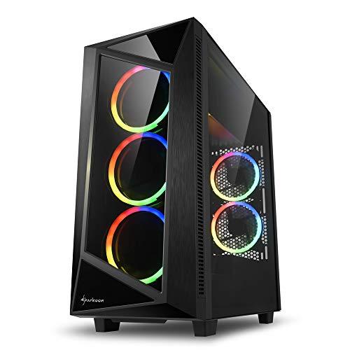 Sharkoon REV200 RGB - Caja de Ordenador, PC Gaming, Semitorre ATX, Negro
