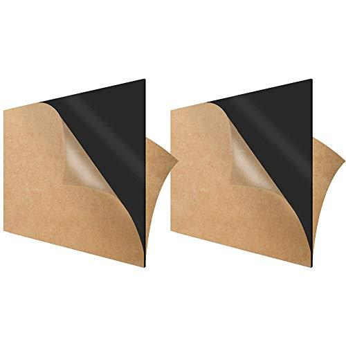 Zewoi 2 Stück Schwarze Acrylplatte Plastic Board für DIY- und Kunstprojekte,200mm × 300mm × 2mm