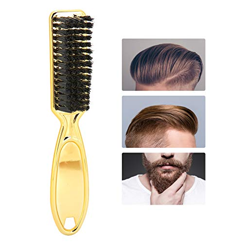 Barber Brush, Barber Neck Duster Brush, Professional Large Cleaning Brosse à cheveux Neck Face Remover Brush Brush Hair Dust Cleaning Beard Sweeping Brush Black for All Hairdressers and Stylists
