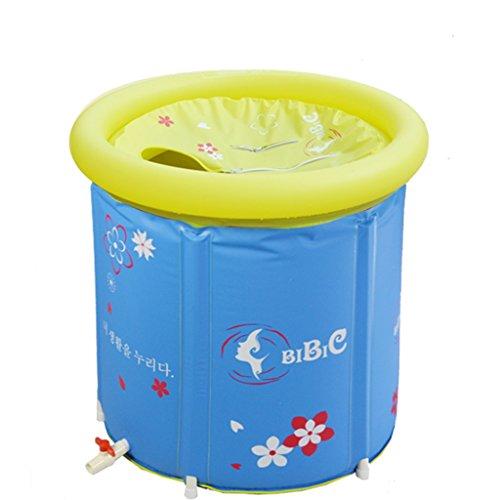 HzhiH- Jeux d'eau et de plage Épaississement Seau Pliable Adulte Baignoire Gonflable Baignoire Chaud en Plastique Baignoire Baril Enfants Baignoire Baignoire Grand (Taille : 70 * 70cm)