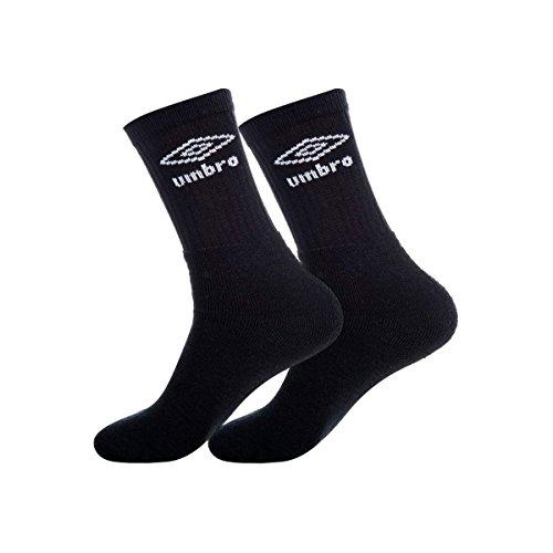 Umbro Unisex T046-1-g Socken Zutreffend Mann Schwarz 39/42, Set 3p T046/1