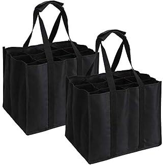 ABO-2-Set-mit-12-Flaschentaschen-Flaschentasche-fr-12-x-15-Liter-Flaschen-Tragetasche-mit-Trennwnden-26-x-26-x-28-cm-schwarz