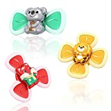 Suction Cup Spinner Top Toy, Baby Early Learner Toys, Bath Toys for Kids(3PCS )…