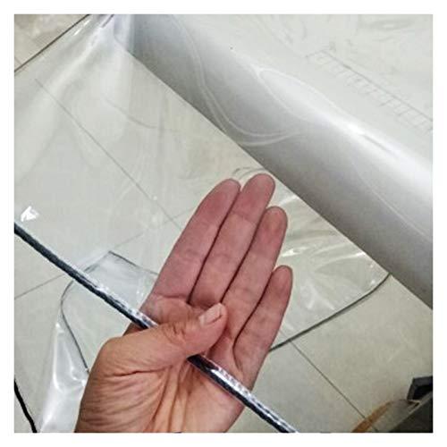 AWSAD Paño de Lluvia Transparente PVC Espesado Impermeable Bloquear UV Usado para Cobertizo de Flores Balcón al Aire Libre Lona Alquitranada, 13 Tamaños, Se Puede Personalizar