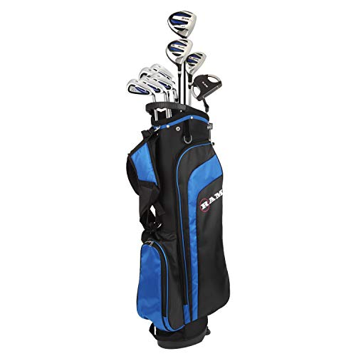 Ram Golf EZ3 Mens Golf Clubs Set with Stand Bag - Graphite/Steel Shafts (Graphite/Steel, Right)