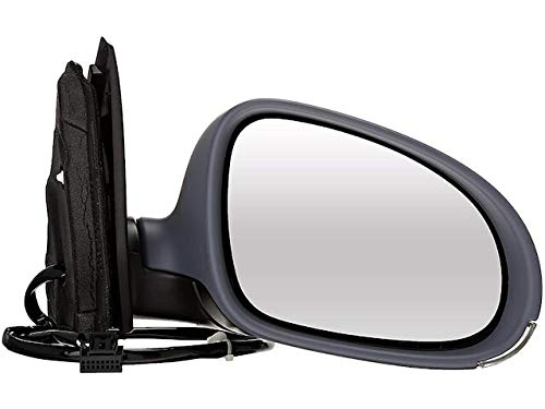 Right Passenger Side Power Mirror - Paint to Match - with Heated Glass and Turn Signal - without Puddle Lamp - Compatible with 2005-2010 Volkswagen Jetta